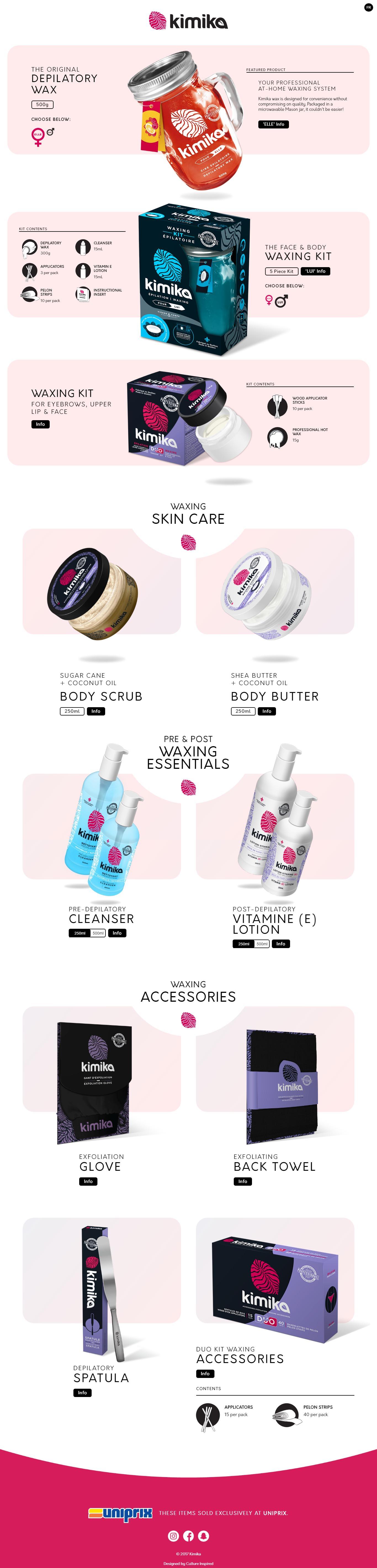 Kimika Beauty Pro Web Design Example