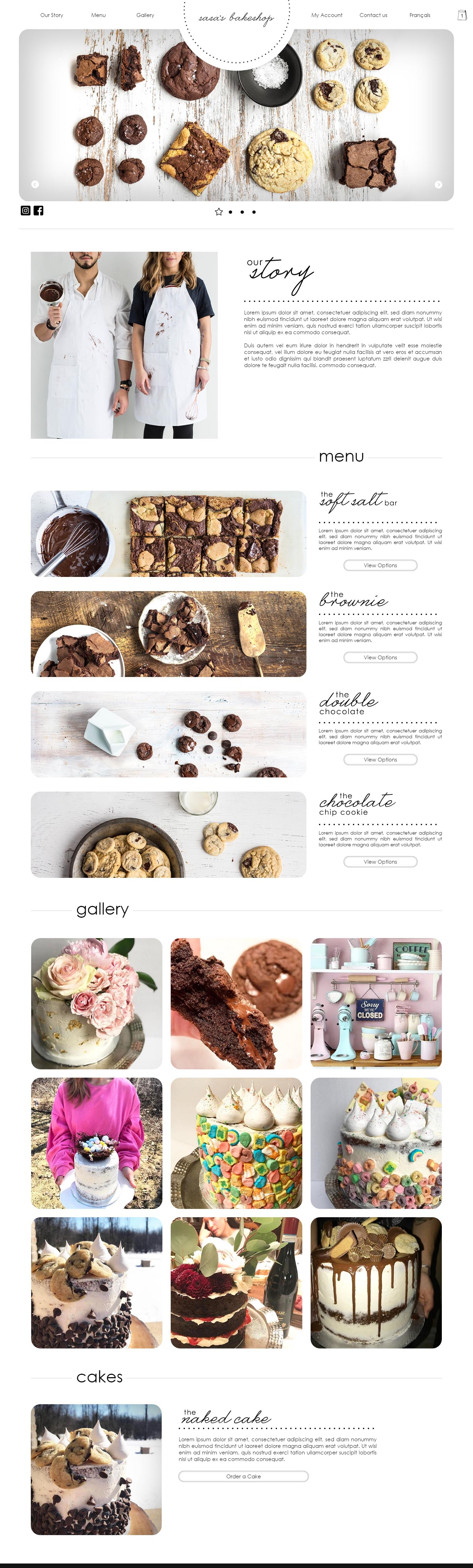 Sasa's Bakeshop Web Design Example